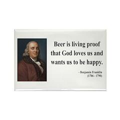 Benjamin Franklin 8 Rectangle Magnet (10 pack)