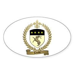LEVRON Family Crest Oval Decal