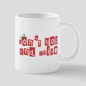 Eggnog Warning Christmas Mug