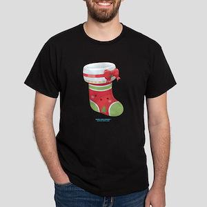 Kawaii Xmas Stocking Dark T-Shirt