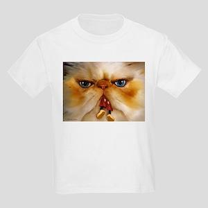 Fat Cat Eating Kids Light T-Shirt