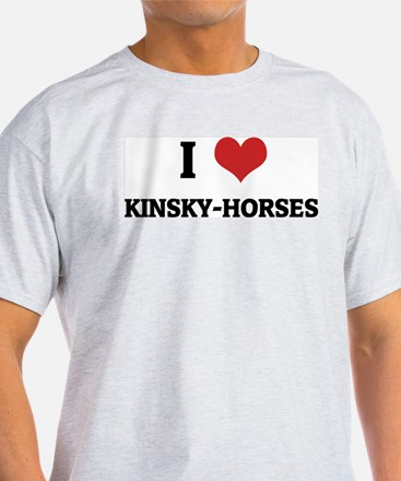 I Love Kinsky-Horses Ash Grey T-Shirt