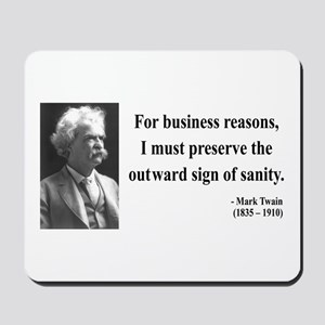 Mark Twain 26 Mousepad