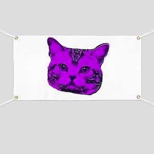 Purple Kitty Cat Banner