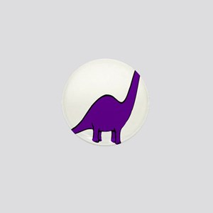 Cute Purple Dinosaur Mini Button