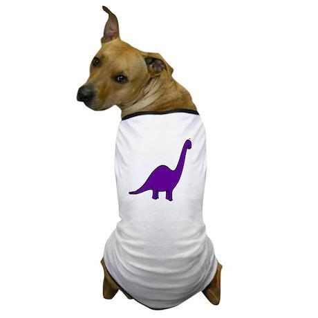 Cute Purple Dinosaur Dog T-Shirt