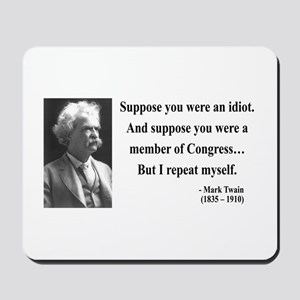 Mark Twain 15 Mousepad