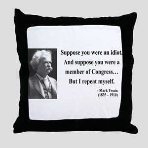 Mark Twain 15 Throw Pillow