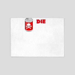 Real Food Diet Soda Die Soda 5'x7'Area Rug