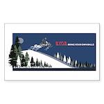 Bring Your Own Balls Snowmobiler Sticker (Rectangl