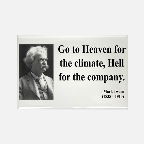 Mark Twain 29 Rectangle Magnet