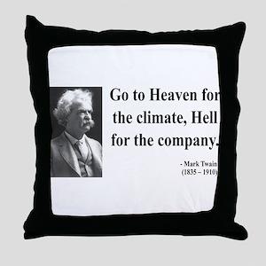 Mark Twain 29 Throw Pillow