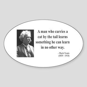 Mark Twain 34 Oval Sticker