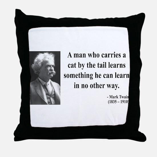 Mark Twain 34 Throw Pillow