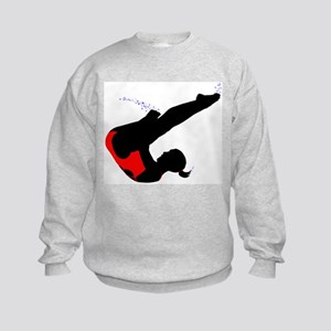 Girl's Diving Kids Sweatshirt