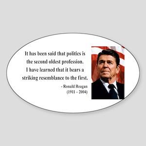 Ronald Reagan 8 Oval Sticker