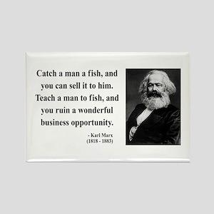 Karl Marx 4 Rectangle Magnet