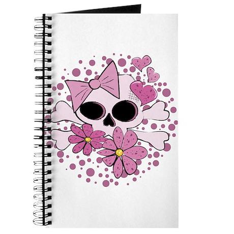 Girly Punk Skull Journal