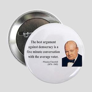 "Winston Churchill 2 2.25"" Button"