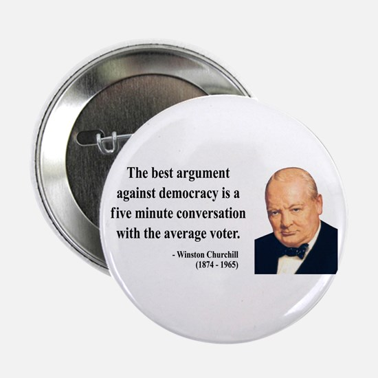 "Winston Churchill 2 2.25"" Button"