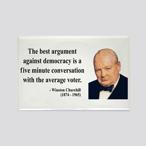 Winston Churchill 2 Rectangle Magnet