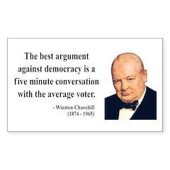 Winston Churchill 2 Rectangle Decal