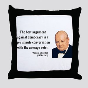 Winston Churchill 2 Throw Pillow
