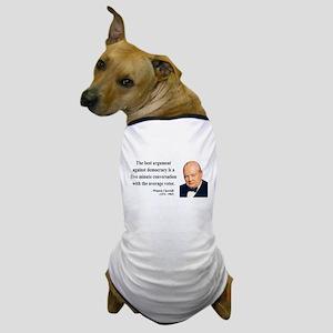 Winston Churchill 2 Dog T-Shirt
