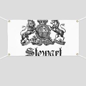 Stewart Vintage Crest Family Name Banner