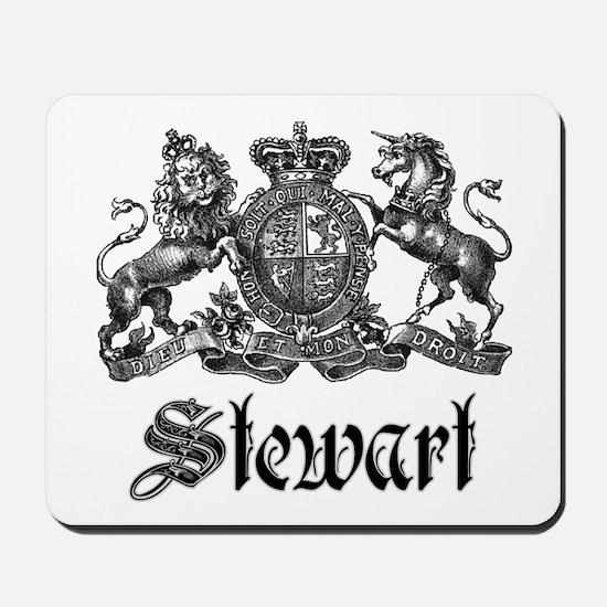 Stewart Vintage Crest Family Name Mousepad