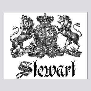 Stewart Vintage Crest Family Name Small Poster