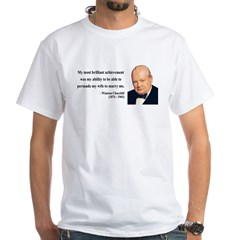 Winston Churchill 15 White T-Shirt