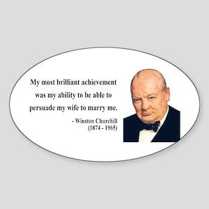 Winston Churchill 15 Oval Sticker