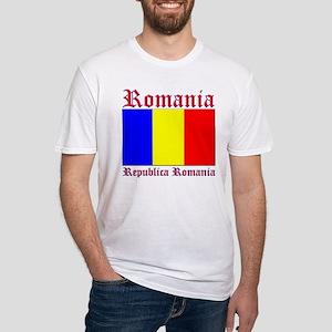 Romania Flag Republica Romani Fitted T-Shirt