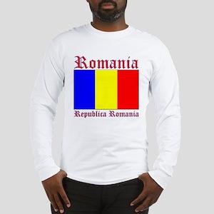 Romania Flag Republica Romani Long Sleeve T-Shirt