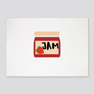 Real Food This Is My Jam Jelly 5'x7'Area Rug