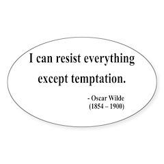 Oscar Wilde 2 Oval Decal