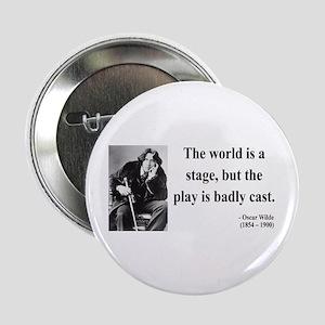 """Oscar Wilde 5 2.25"""" Button"""