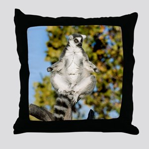 Sunning Ringtail Throw Pillow
