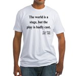 Oscar Wilde 5 Fitted T-Shirt