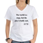 Oscar Wilde 5 Women's V-Neck T-Shirt