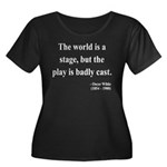 Oscar Wilde 5 Women's Plus Size Scoop Neck Dark T-