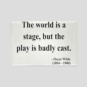 Oscar Wilde 5 Rectangle Magnet