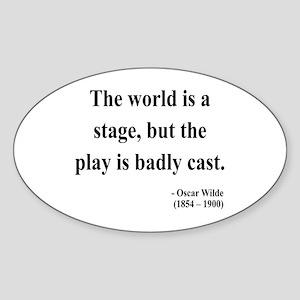 Oscar Wilde 5 Oval Sticker