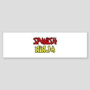 """Spanish Ninja"" Bumper Sticker"