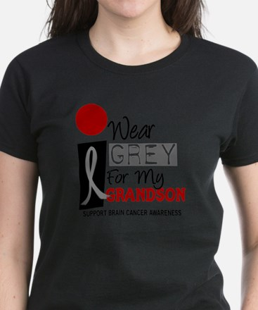 I Wear Grey For My Grandson 9 Women's Dark T-Shirt