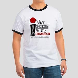 I Wear Grey For My Grandson 9 Ringer T