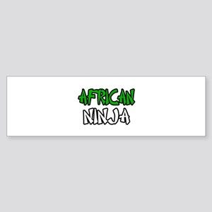 """African Ninja"" Bumper Sticker"