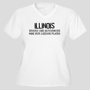 Illinois Governor Women's Plus Size V-Neck T-Shirt