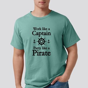 Work Like A Captain Party Like A Pirate White T-Sh